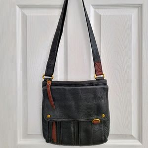 Fossil Genuine Leather Crossbody Bag Adjustable